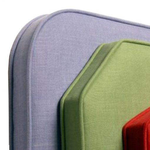 capped border headboard upholstered