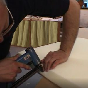 upholstering a headboard staple gun